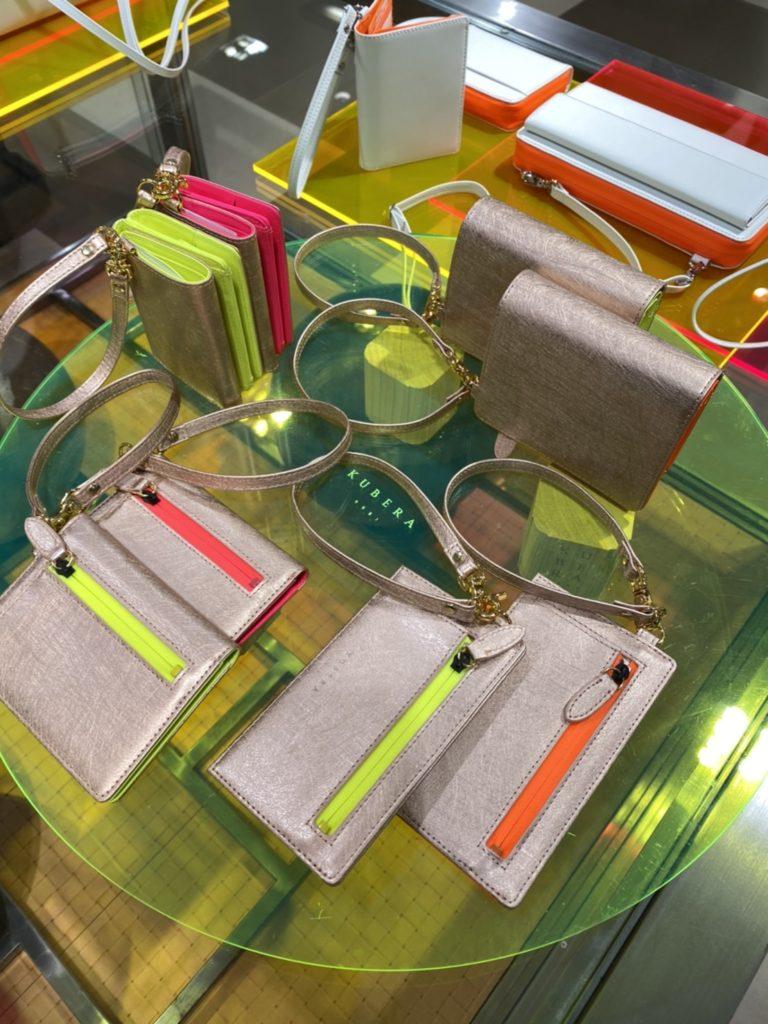 KUBERA9981 クベラ9981 日本製 財布 ネオンカラー スコッチガード neon color 大丸東京店 カードケース ミニ財布