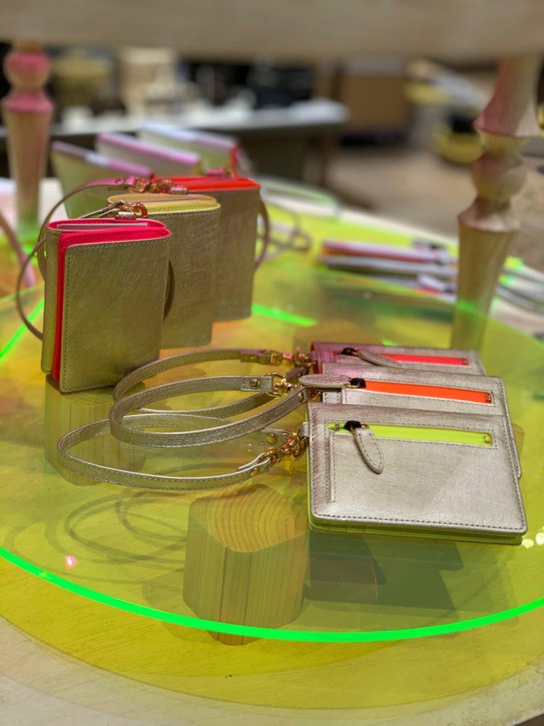 kubera9981 クベラ9981 made in japan 革小物 財布 wallet miniwallet バッグ スコッチガード アルミニウム ピンクゴールド シャンパンゴールド 銀座三越