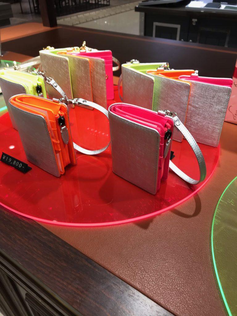 kubera9981 クベラ9981 madeinjapan バッグ 財布 カードケース あべのハルカス近鉄本店 スコッチガード アルミニウム ネオンカラー neon color rubber ラバー