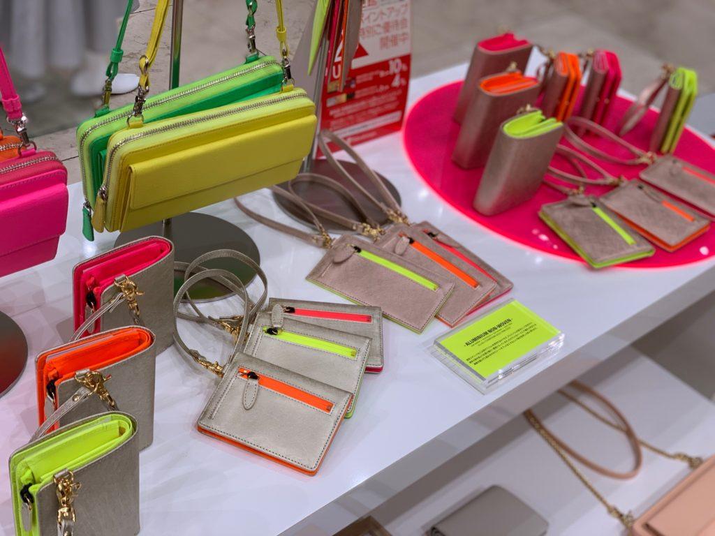 KUBERA9981 クベラ9981 クベラ 新宿タカシマヤ POP UP STORE ネオンカラー 財布 バッグ neon color wallet bag scotchgard スコッチガード